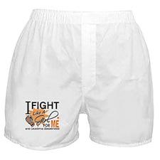 Fight Like a Girl Leukemia Boxer Shorts