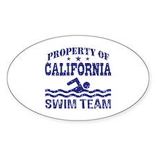 Property of California Swim Team Decal