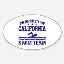 Property of California Swim Team Decal