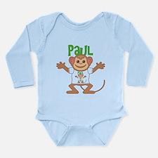 Little Monkey Paul Long Sleeve Infant Bodysuit