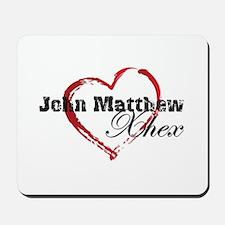 Abstract Heart Mousepad - John Matthew and Xhex