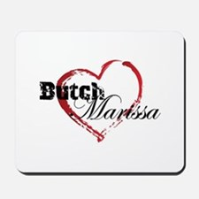 Abstract Heart Mousepad - Butch and Marissa