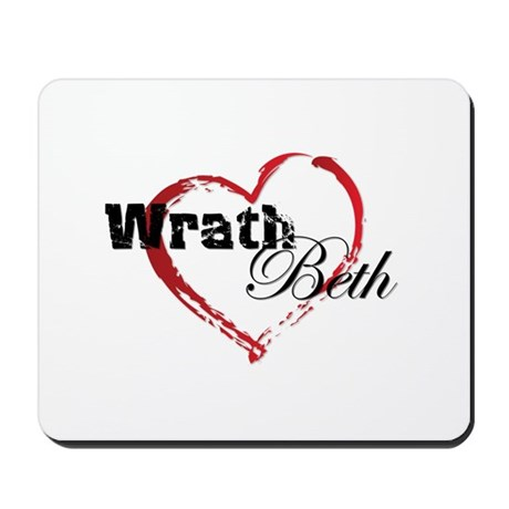 Abstract Heart Mousepad - Wrath and Beth