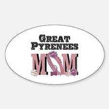 Great Pyrenees MOM Sticker (Oval)