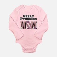 Great Pyrenees MOM Long Sleeve Infant Bodysuit