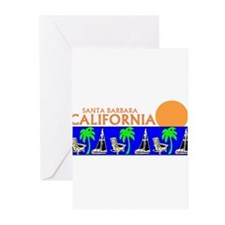 Cute Diving santa Greeting Cards (Pk of 10)
