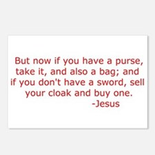 "Luke 22:36 ""Sell your cloak and buy a sword"" Postc"