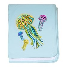 Jellyfish Group baby blanket