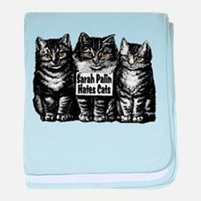 Hates Cats baby blanket
