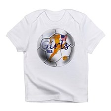 US Girls Soccer Ball Infant T-Shirt