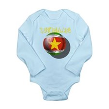 Suriname Soccer Long Sleeve Infant Bodysuit