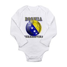 Bosnian Football Long Sleeve Infant Bodysuit