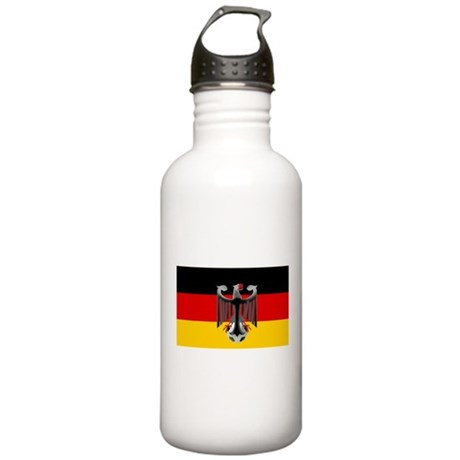 German Soccer Flag Stainless Water Bottle 1.0L