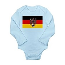German Soccer Flag Long Sleeve Infant Bodysuit