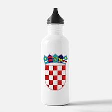 Croatia Hrvatska Emblem Water Bottle