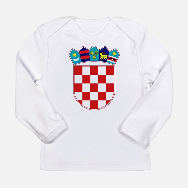 Croatia Hrvatska Emblem Long Sleeve Infant T-Shirt