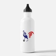 France Le Coq Flag Water Bottle