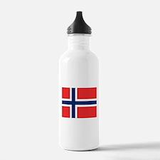 Flag of Norway Water Bottle