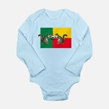 Benin Soccer Flag Long Sleeve Infant Bodysuit