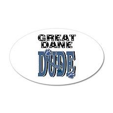 Great Dane DUDE 22x14 Oval Wall Peel