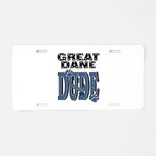 Great Dane DUDE Aluminum License Plate