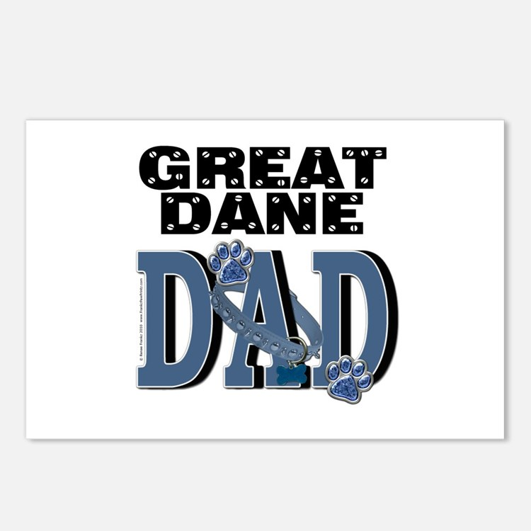 Great Dane DAD Postcards (Package of 8)