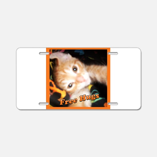 Unique Tabby tiger Aluminum License Plate