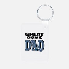 Great Dane DAD Aluminum Photo Keychain