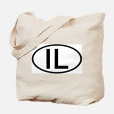 IL - Initial Oval Tote Bag