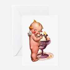 Kewpie Loves Ice Cream Greeting Card