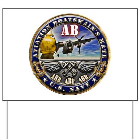 US Navy Aviation Boatswains Mate Yard Sign