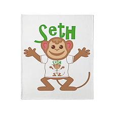 Little Monkey Seth Throw Blanket