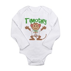Little Monkey Timothy Long Sleeve Infant Bodysuit