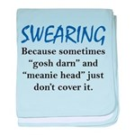 Swearing baby blanket