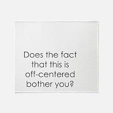 Off Center Throw Blanket