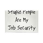 Job Security Rectangle Magnet