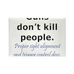 Guns Trigger Rectangle Magnet