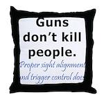 Guns Trigger Throw Pillow
