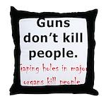 Guns Organs Throw Pillow