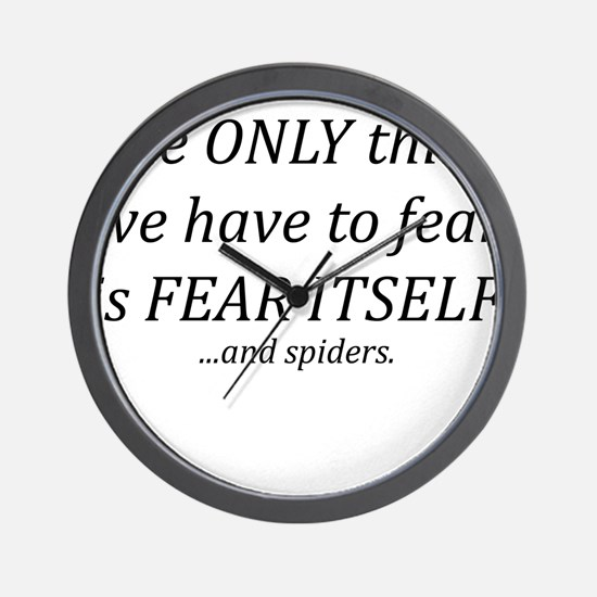 Fear Itself Wall Clock