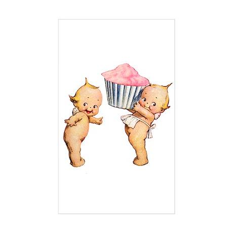 Kewpies Love Cupcakes! Sticker (Rectangle 10 pk)