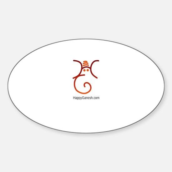 Happy Ganesh head logo Sticker (Oval)
