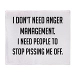 Anger Management Throw Blanket