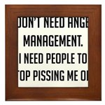 Anger Management Framed Tile