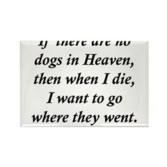 Dogs Heaven Rectangle Magnet (10 pack)