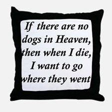 Dogs Heaven Throw Pillow