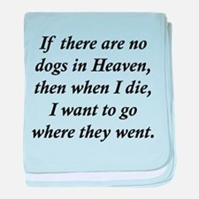 Dogs Heaven baby blanket