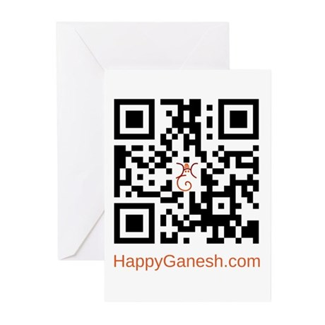 Happy Ganesh QR Code Greeting Cards (Pk of 20)