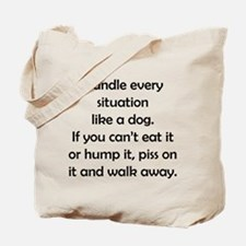 Dog Situation Tote Bag