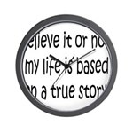 True Story Wall Clock